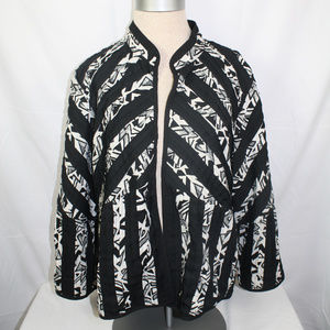 Chico's Reversible Jacket Blk Faux Quilted Jacket